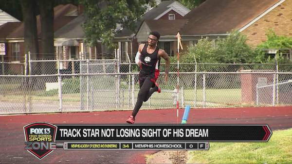 Memphis high school track star doesn't let poor vision slow him down