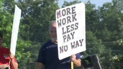 PHOTOS: Kellogg's strike over wages enters day four