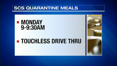 WATCH: Free meals available for SCS students in quarantine