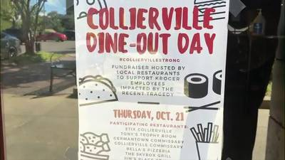 WATCH: Collierville restaurants to donate portion of Thursday's profits to Kroger shooting victims fund