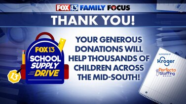 You did it, Mid-South! You helped the FOX13 School Supply Drive reach our goal!