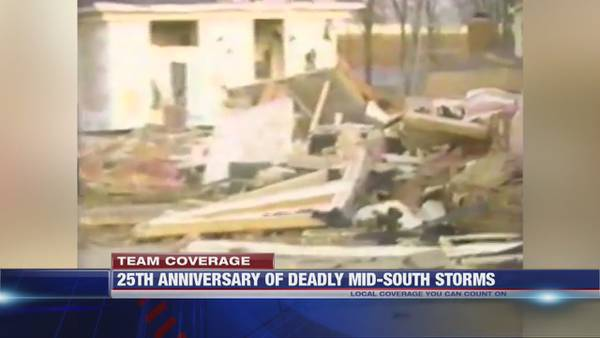 As severe weather approaches, Mid-South residents reminded of deadly tornado 25 years ago