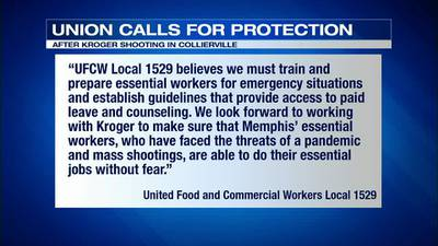 WATCH: Union calls for protections following deadly Kroger shooting