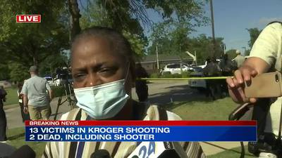 WATCH: Kroger cashier who ushered people outside recounts what she witnessed during shooting