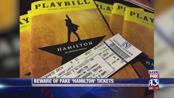 Announcement of 'Hamilton' showing at The Orpheum has resulted in numerous ticket scams