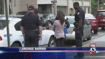 Latino mother's inability to speak English caused difficulties when filing order of protection