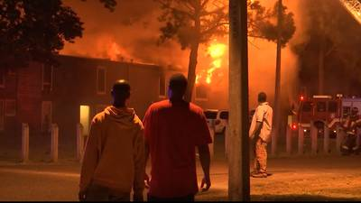 PHOTOS: Views from the scene of the devastating fire at Whitehaven apartments