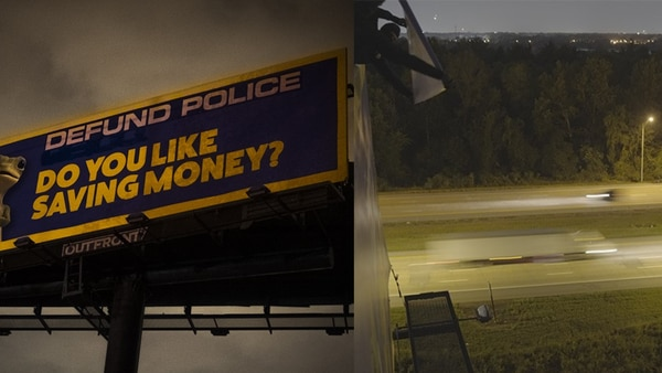 2 Memphis billboards altered with message to 'defund police'