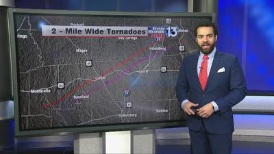 Two mile-wide tornadoes confirmed in Mississippi on Easter Sunday, according to NWS preliminary reports