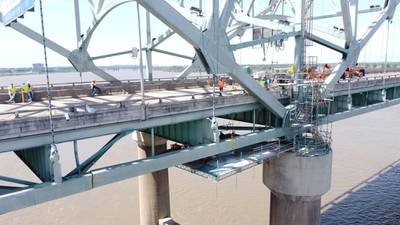 First plate installed as crews work day and night on I-40 Bridge repair, TDOT says