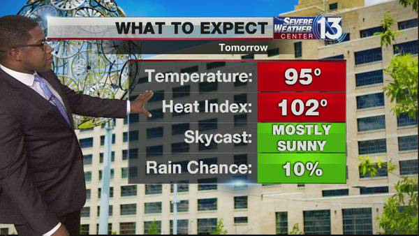 Feel like temps in triple digits forecasted for Mid-South