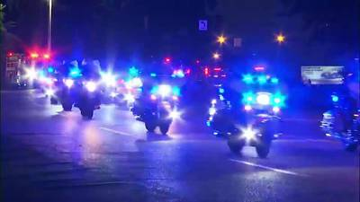WATCH: Sea of Blue held for Memphis police officer who died after battling illness