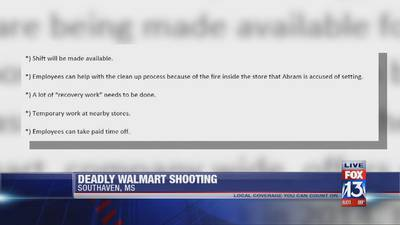 Suspended employee kills 2 fathers, injures officer at Walmart in Southaven, officials say