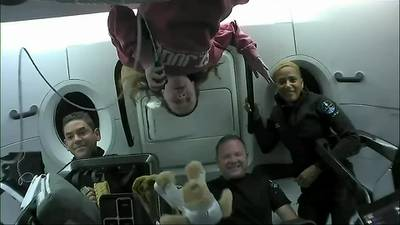 Inspiration4 astronauts talk to St. Jude patients from space